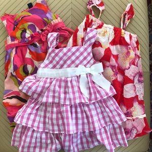 Lot of 3 Girls summer dresses 3T